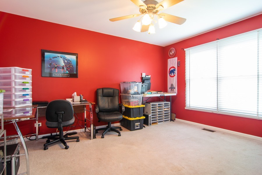 Real Estate Photography - 1432 Steeplechase Road, Bartlett, IL, 60103 - Office