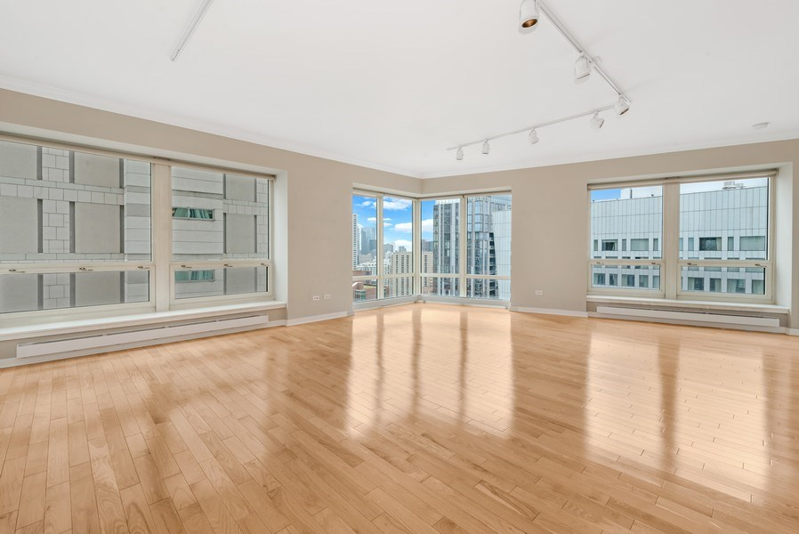 Real Estate Photography - 57 E Delaware Pl, Unit 2901, Chicago, IL, 60611 - Living Room