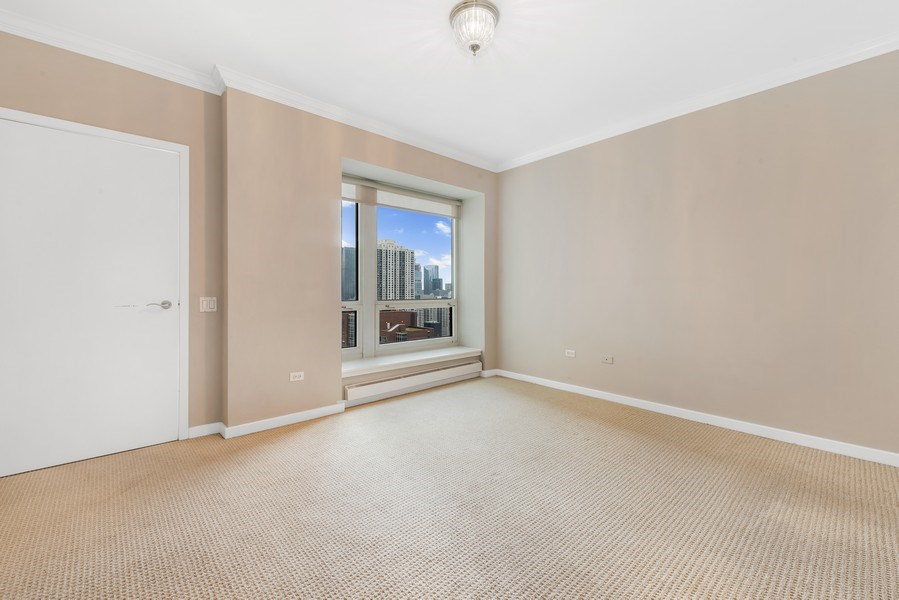 Real Estate Photography - 57 E Delaware Pl, Unit 2901, Chicago, IL, 60611 - Master Bedroom