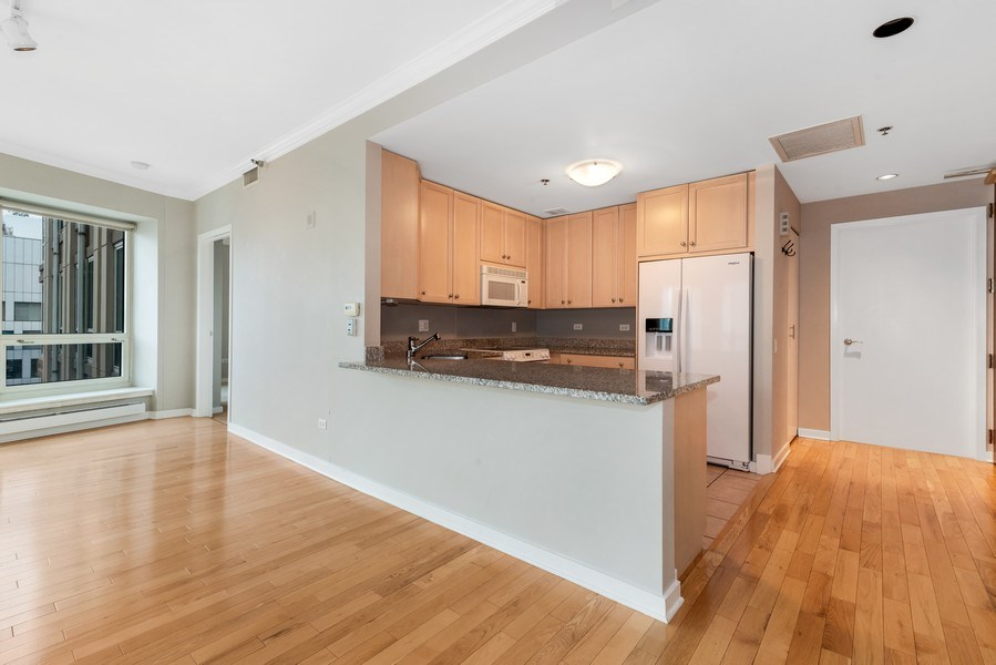 Real Estate Photography - 57 E Delaware Pl, Unit 2901, Chicago, IL, 60611 - Kitchen