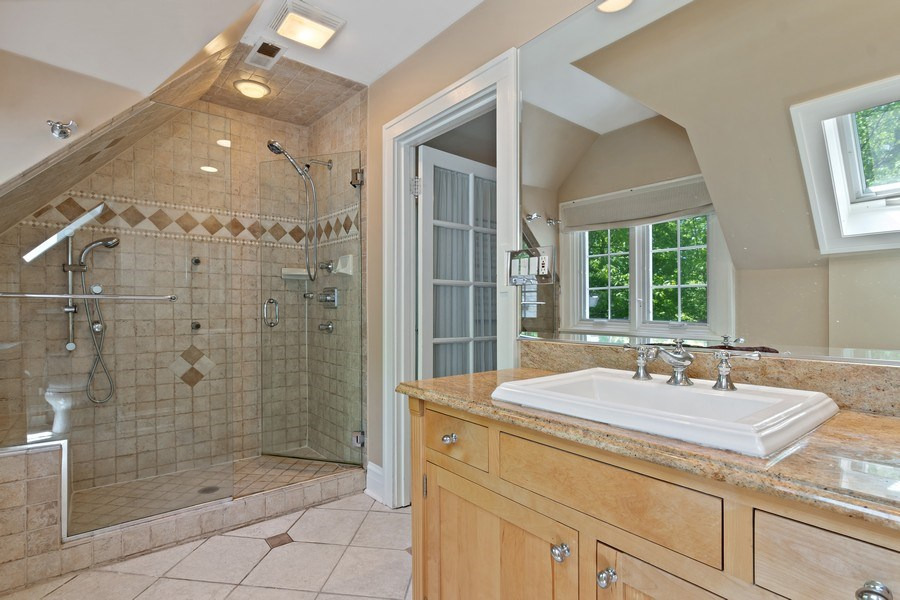 Real Estate Photography - 1277 Forest Ave, Highland Park, IL, 60035 - Master Bathroom