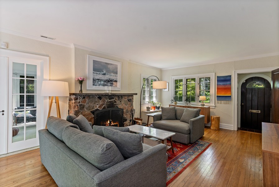 Real Estate Photography - 1277 Forest Ave, Highland Park, IL, 60035 - Living Room