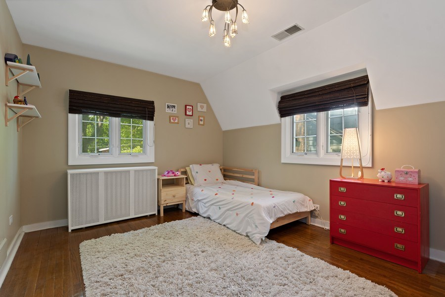 Real Estate Photography - 1277 Forest Ave, Highland Park, IL, 60035 - Bedroom