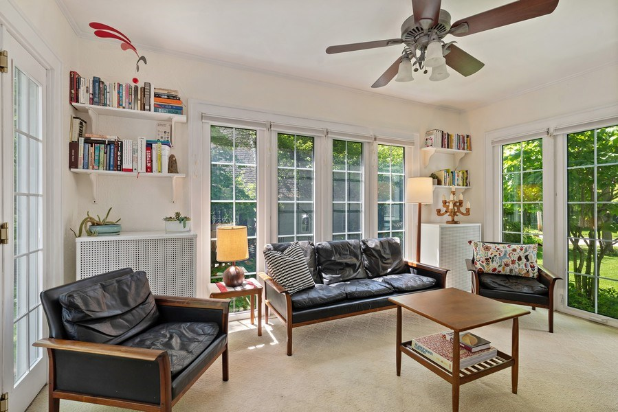 Real Estate Photography - 1277 Forest Ave, Highland Park, IL, 60035 - Family Room