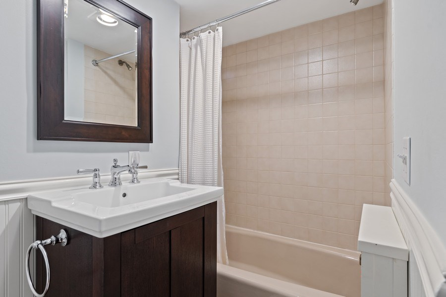 Real Estate Photography - 1277 Forest Ave, Highland Park, IL, 60035 - 2nd Bathroom