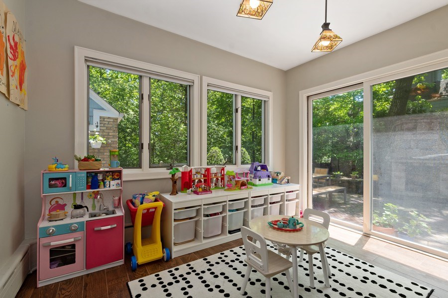 Real Estate Photography - 1277 Forest Ave, Highland Park, IL, 60035 - Play / Recreational Room