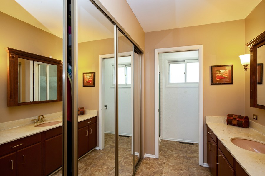 Real Estate Photography - 557 Dulles Road, Des Plaines, IL, 60016 - Master Bathroom