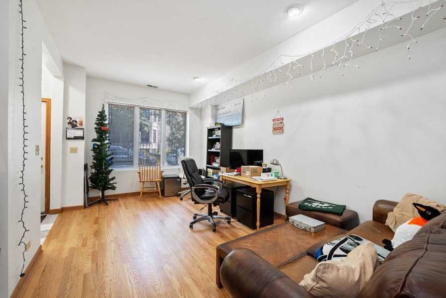 Real Estate Photography - 1829 West School St, Chicago, IL, 60657 - Living Room