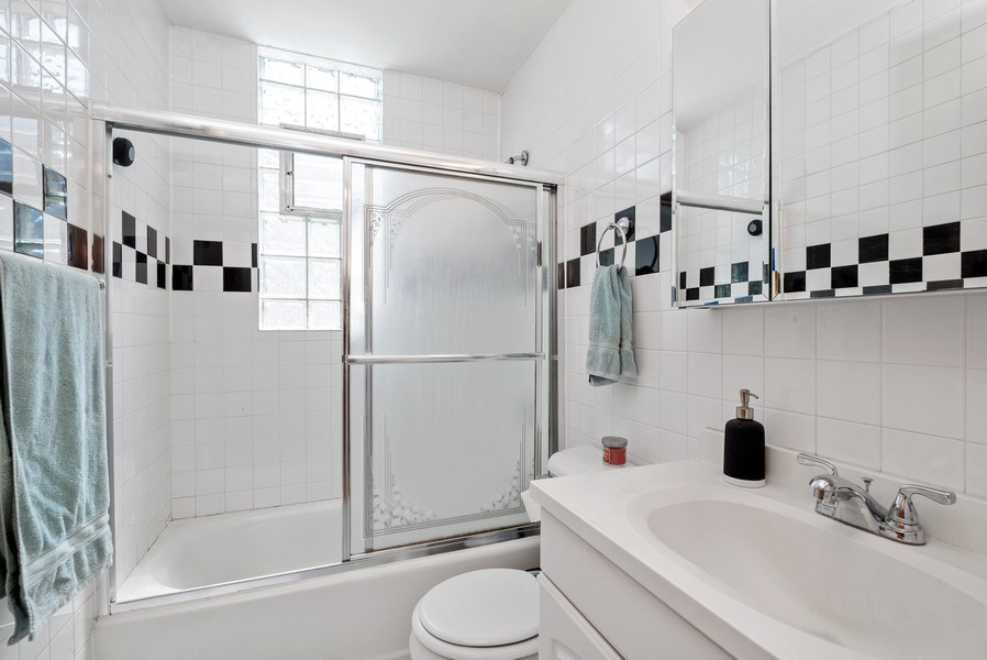 Real Estate Photography - 1829 West School St, Chicago, IL, 60657 - 3rd Bathroom