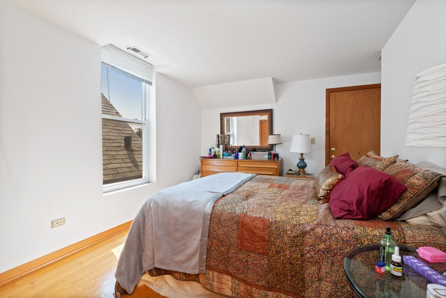 Real Estate Photography - 1829 West School St, Chicago, IL, 60657 - Bedroom