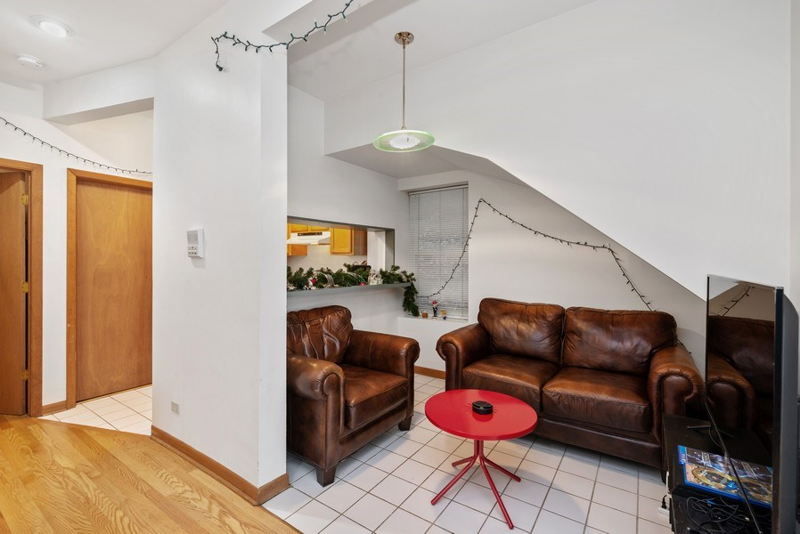 Real Estate Photography - 1829 West School St, Chicago, IL, 60657 - Den