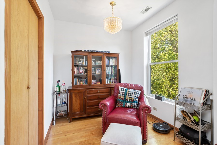 Real Estate Photography - 1829 West School St, Chicago, IL, 60657 - Den/Office