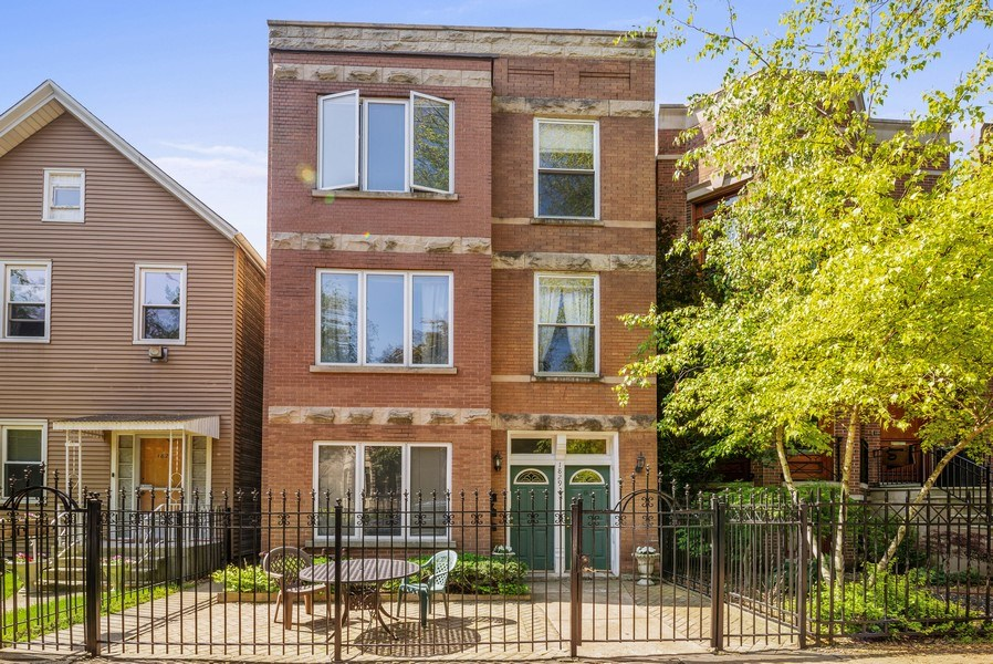Real Estate Photography - 1829 West School St, Chicago, IL, 60657 - Front View