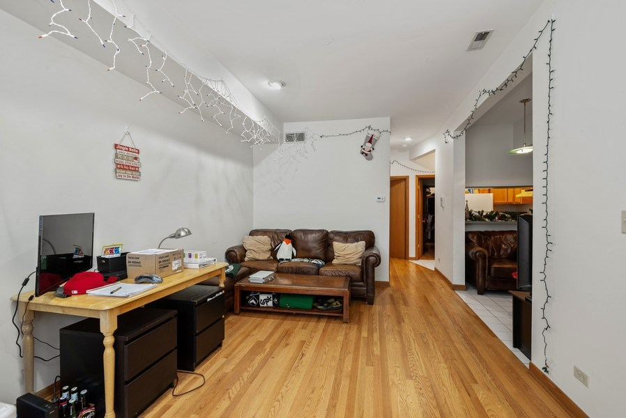 Real Estate Photography - 1829 West School St, Chicago, IL, 60657 - Kitchen / Living Room