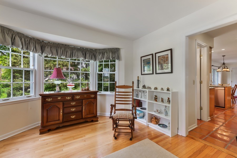 Real Estate Photography - 305 E. 12th Avenue, Naperville, IL, 60563 - Beautiful LR bay window & refinished hardwood FLR