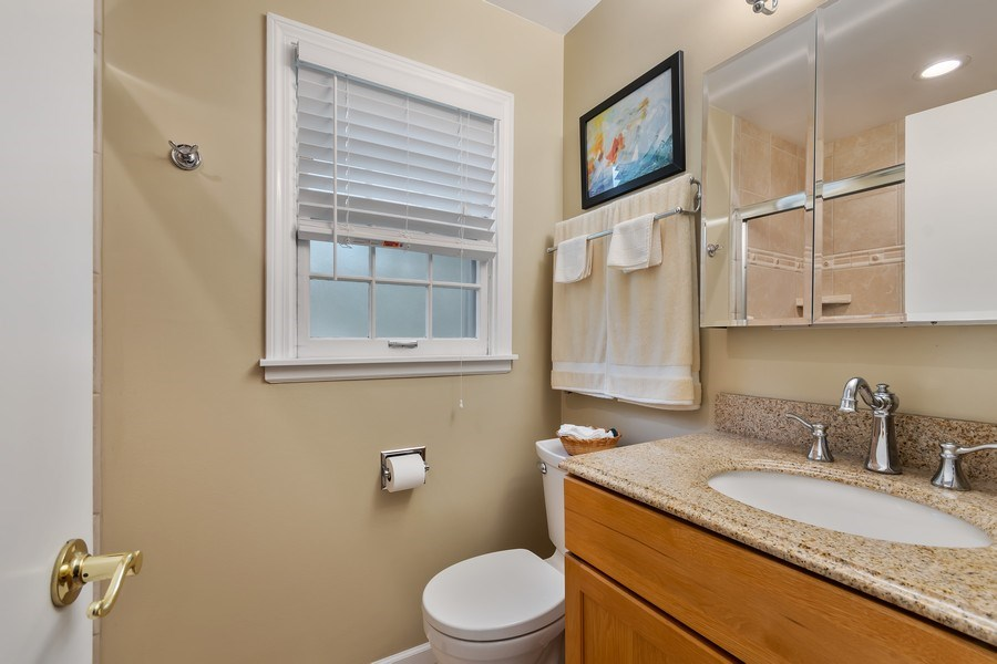 Real Estate Photography - 305 E. 12th Avenue, Naperville, IL, 60563 - Remodeled MST bath w/body sprays in the shower