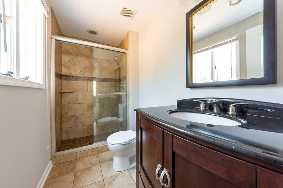 Real Estate Photography - 3018 N. Stratford Road, Arlington Heights, IL, 60004 - 2nd Master Suite Bathroom