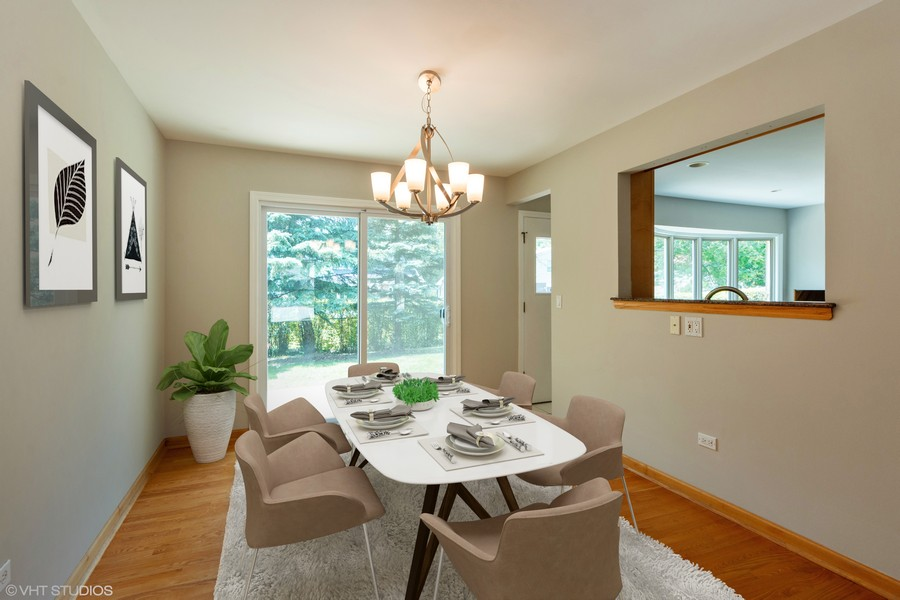 Real Estate Photography - 3018 N. Stratford Road, Arlington Heights, IL, 60004 - Virtually Staged Dining Room