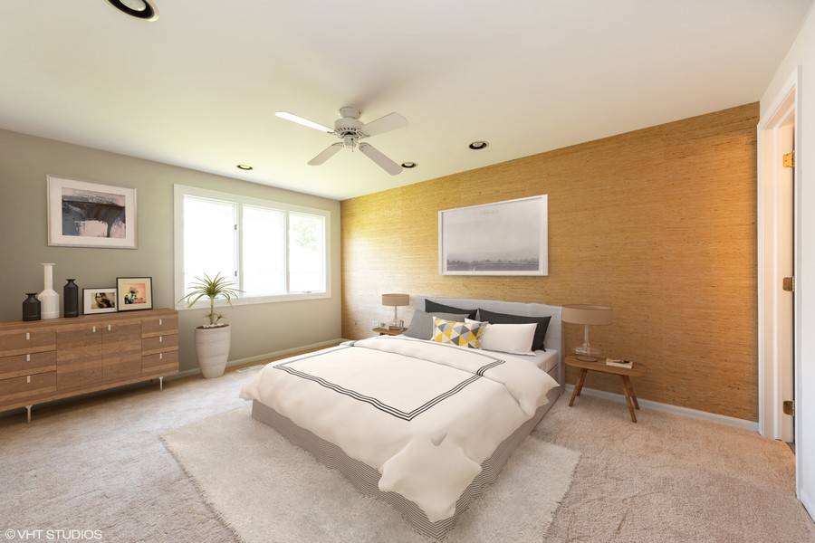 Real Estate Photography - 3018 N. Stratford Road, Arlington Heights, IL, 60004 - Virtually Staged Master Suite #2