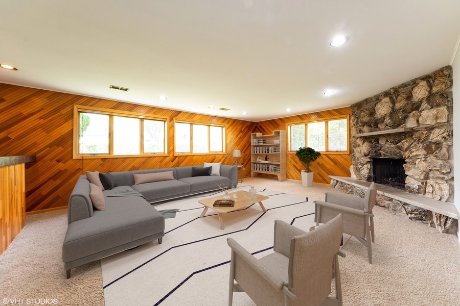 Real Estate Photography - 3018 N. Stratford Road, Arlington Heights, IL, 60004 - Virtually Staged Family Room