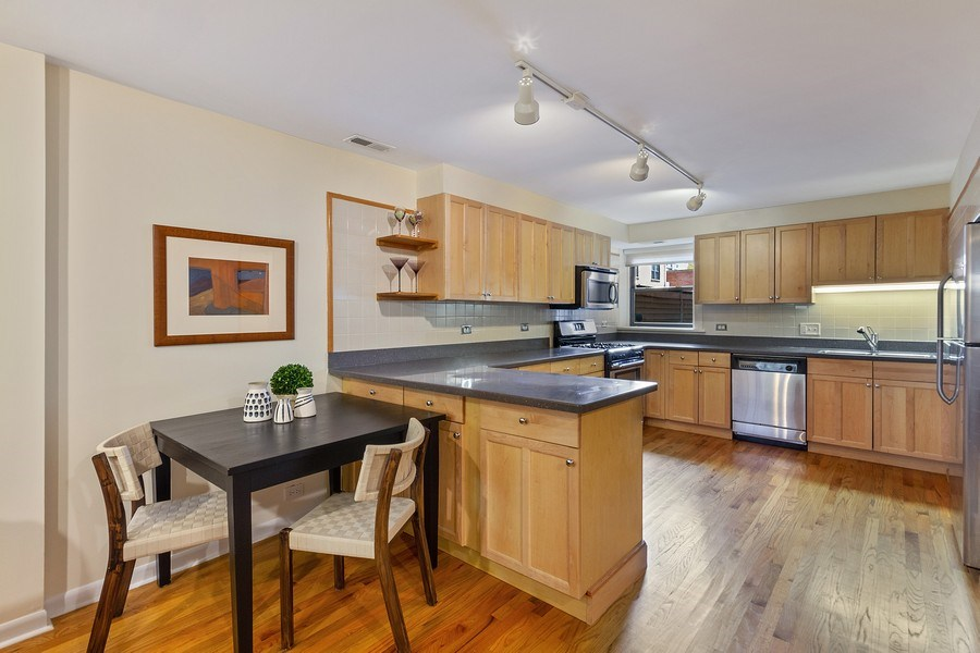 Real Estate Photography - 5643 N. Kenmore Avenue, Unit G, Chicago, IL, 60660 - Kitchen / Dining Room