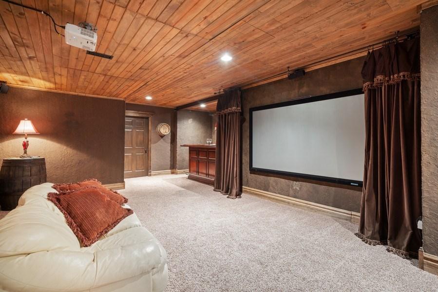 Real Estate Photography - 12758 Barrow Lane, Plainfield, IL, 60585 - Media Room