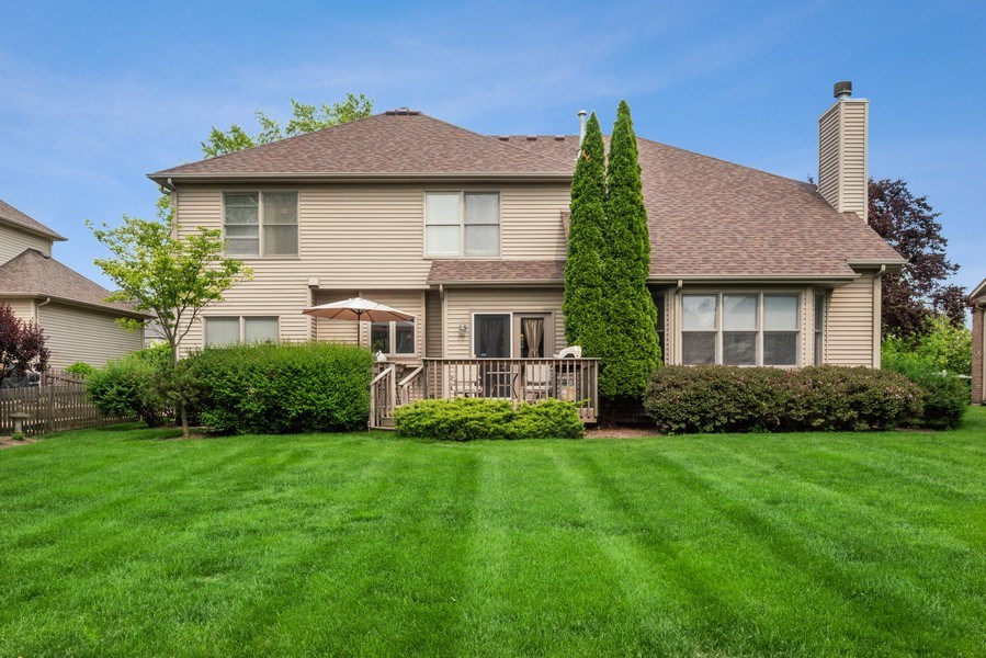 Real Estate Photography - 12758 Barrow Lane, Plainfield, IL, 60585 - Rear View