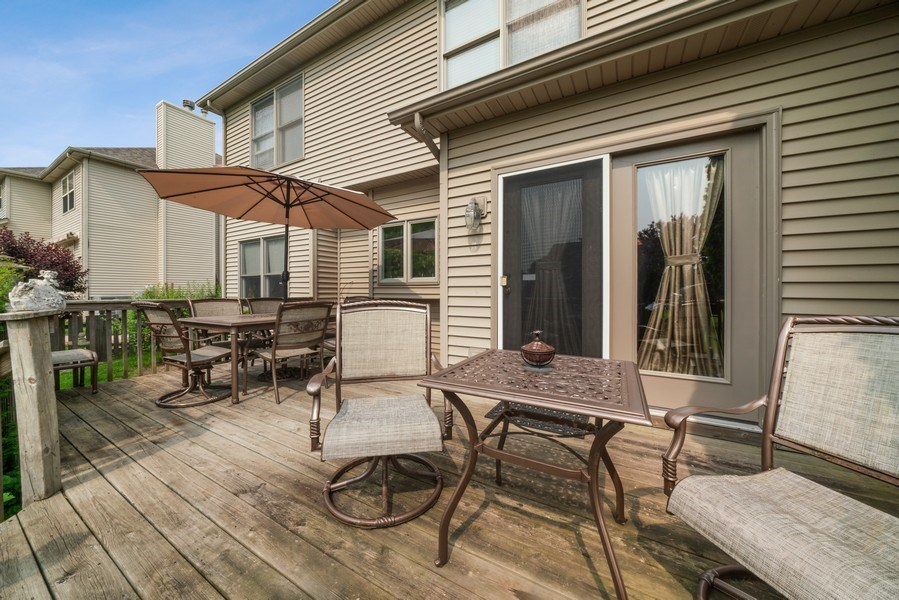 Real Estate Photography - 12758 Barrow Lane, Plainfield, IL, 60585 - Deck