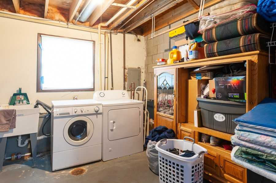 Real Estate Photography - 668 Anita Ave, Antioch, IL, 60002 - 670 - Laundry Room