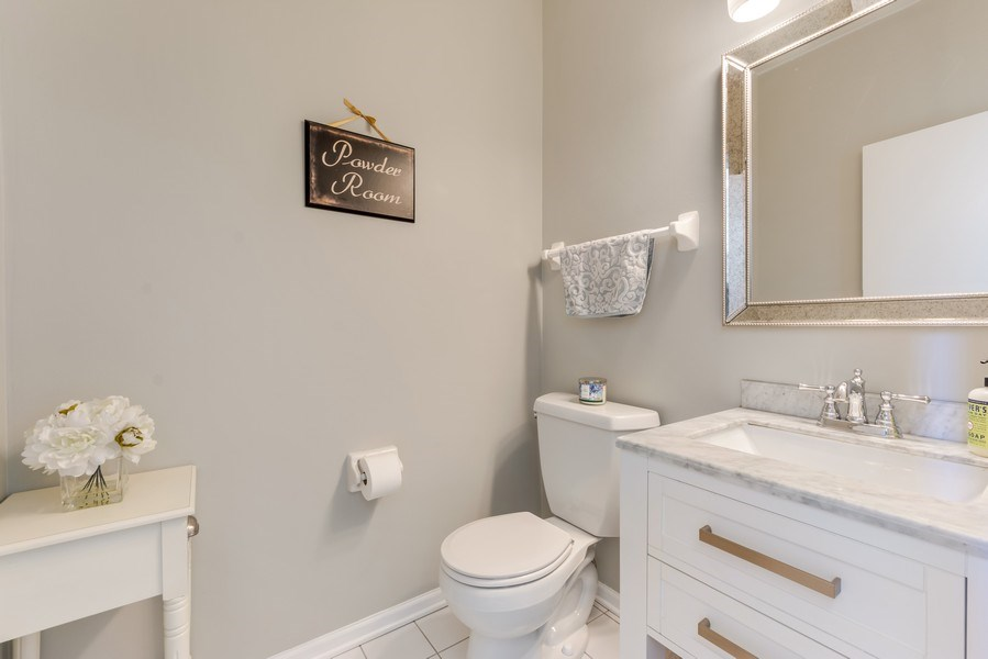 Real Estate Photography - 404 Kerry Court, Prospect Heights, IL, 60070 - Powder Room