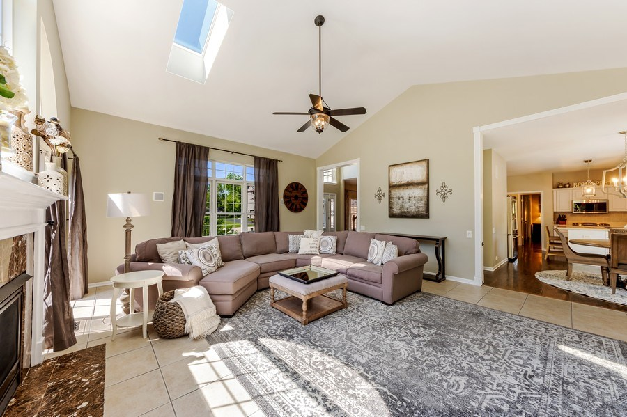 Real Estate Photography - 404 Kerry Court, Prospect Heights, IL, 60070 - Family Room / Kitchen