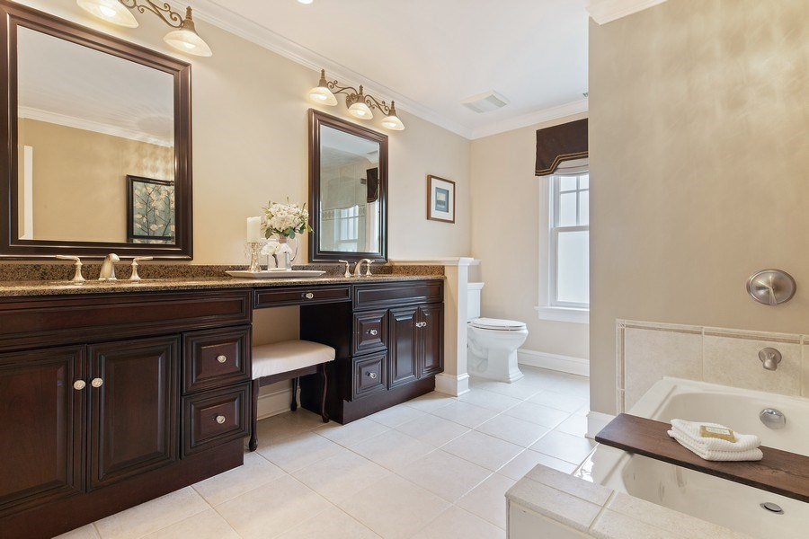 Real Estate Photography - 506 Uvedale Road, Riverside, IL, 60546 - Master Bathroom