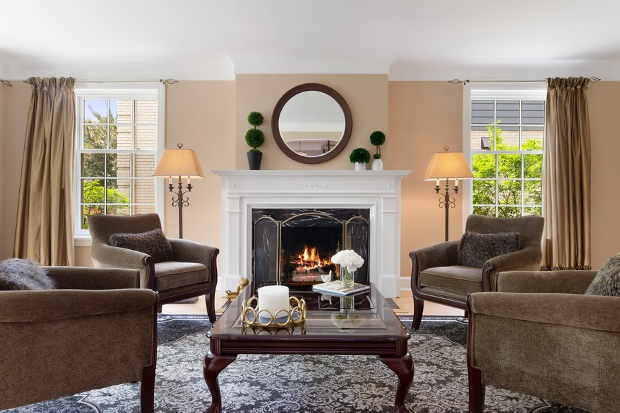Real Estate Photography - 506 Uvedale Road, Riverside, IL, 60546 - Living Room