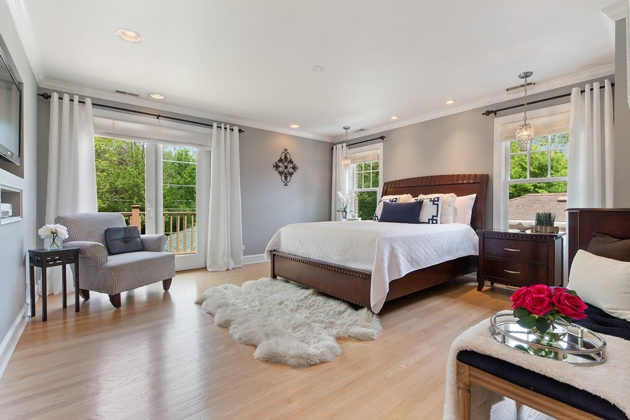 Real Estate Photography - 506 Uvedale Road, Riverside, IL, 60546 - Master Bedroom