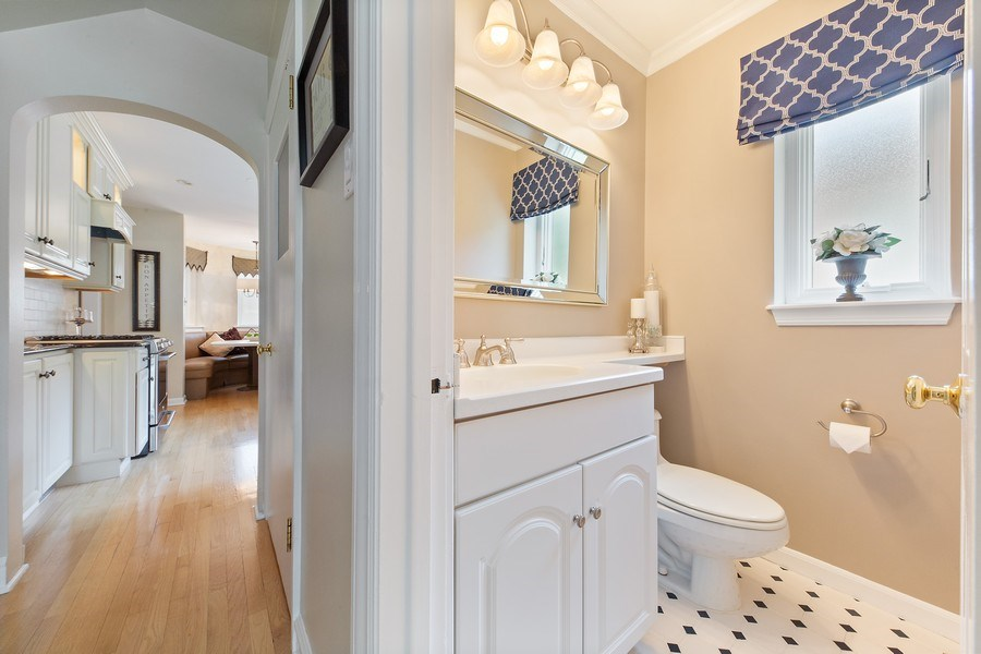 Real Estate Photography - 506 Uvedale Road, Riverside, IL, 60546 - First Floor Powder Room