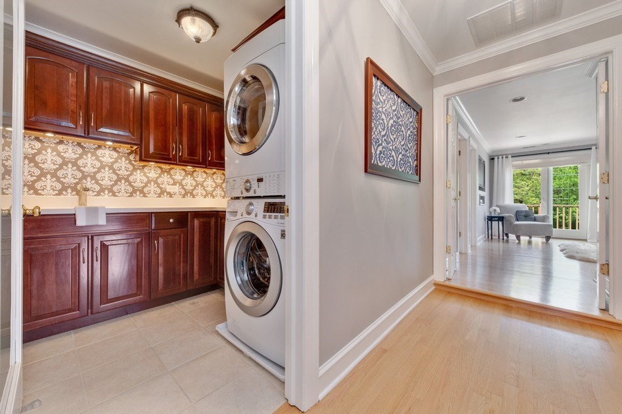 Real Estate Photography - 506 Uvedale Road, Riverside, IL, 60546 - Second Floor Laundry Room