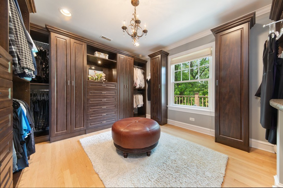 Real Estate Photography - 506 Uvedale Road, Riverside, IL, 60546 - Master Bedroom Walk-In Closet