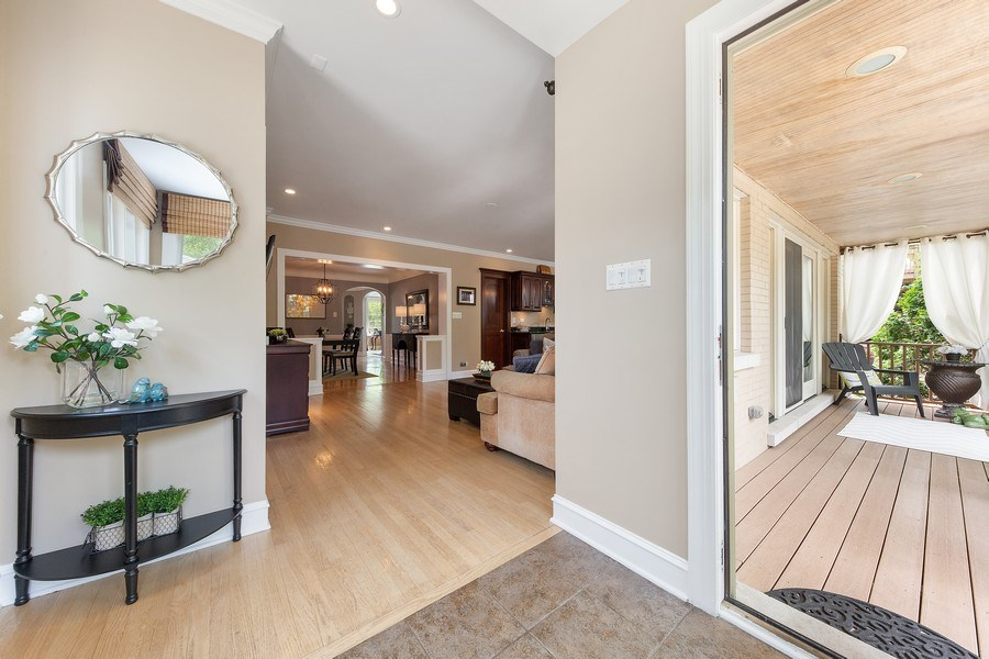 Real Estate Photography - 506 Uvedale Road, Riverside, IL, 60546 - Rear View of Family Room
