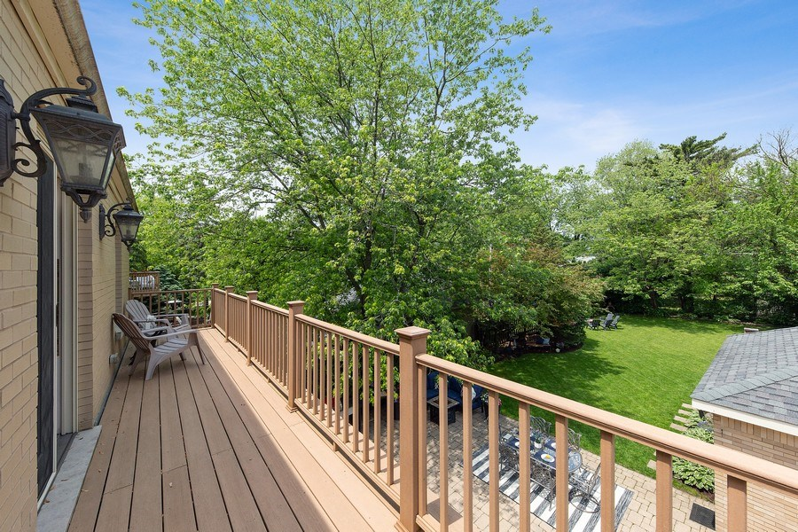Real Estate Photography - 506 Uvedale Road, Riverside, IL, 60546 - Deck Off Master Bedroom