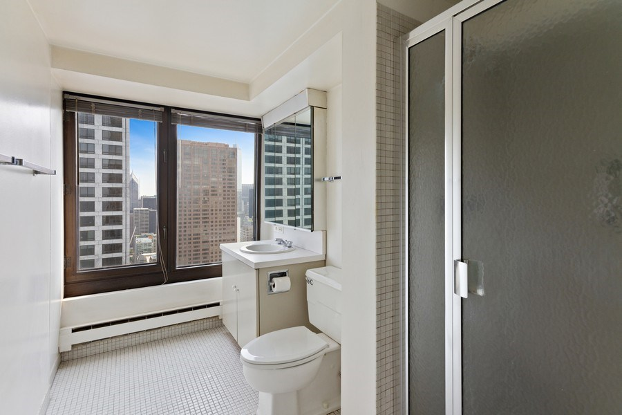 Real Estate Photography - 175 E. DELAWARE Place, Unit 4915, Chicago, IL, 60611 - Master Bathroom