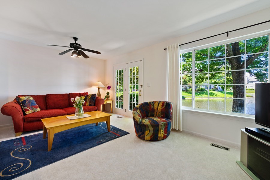Real Estate Photography - 9010 W. Heathwood Circle, Niles, IL, 60714 - Living Room/Dining Room