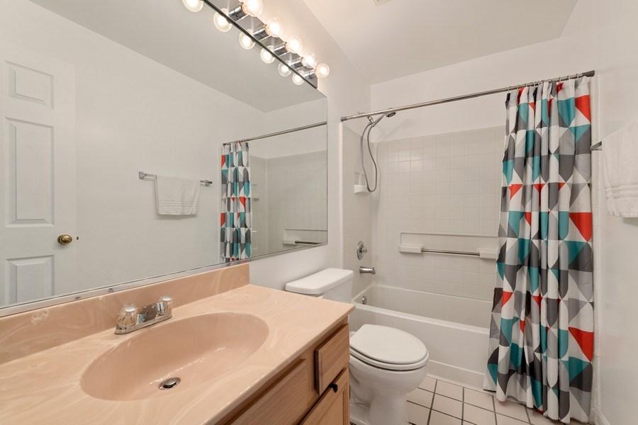 Real Estate Photography - 9010 W. Heathwood Circle, Niles, IL, 60714 - 2nd Bathroom