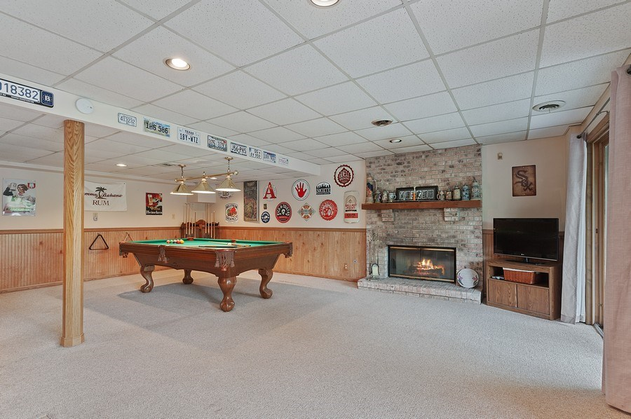 Real Estate Photography - 25990 W. Wilson Road, Antioch, IL, 60002 - Pool Room