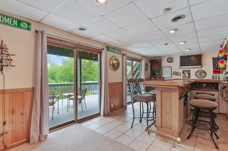 Real Estate Photography - 25990 W. Wilson Road, Antioch, IL, 60002 - Bar