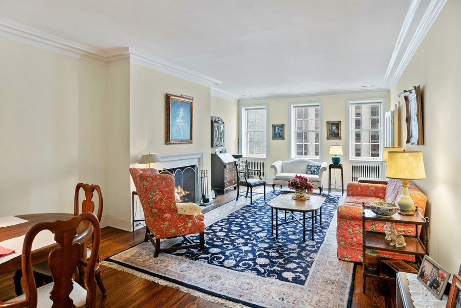 Real Estate Photography - 70 E. Cedar Street, Unit 1402, Chicago, IL, 60611 - Living Room / Dining Room
