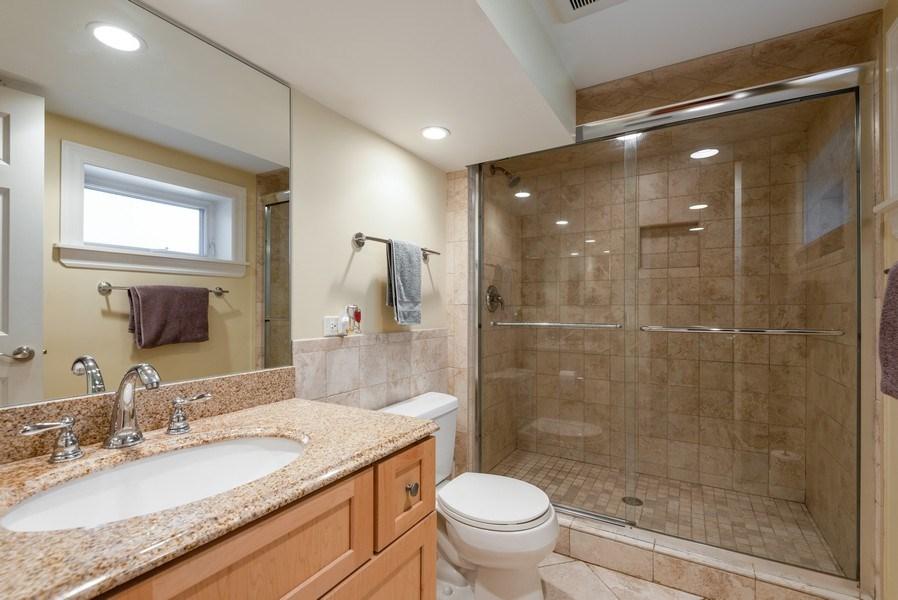 Real Estate Photography - 5457 N. NORDICA Avenue, Chicago, IL, 60656 - Basement Bathroom