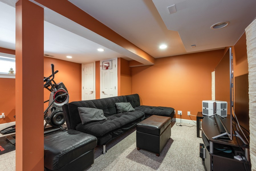 Real Estate Photography - 5457 N. NORDICA Avenue, Chicago, IL, 60656 - Basement Rec Room View 2