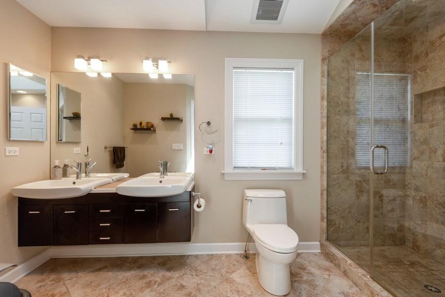 Real Estate Photography - 5457 N. NORDICA Avenue, Chicago, IL, 60656 - Second Floor Bathroom