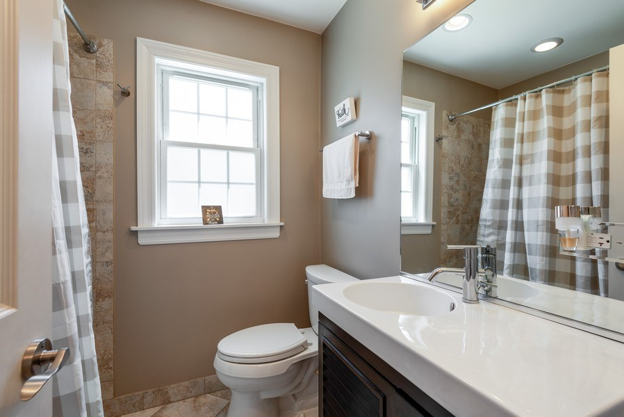 Real Estate Photography - 5457 N. NORDICA Avenue, Chicago, IL, 60656 - First Floor Bathroom