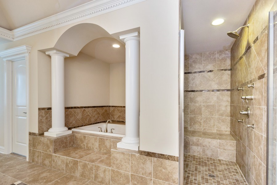 Real Estate Photography - 12900 Peppertree Drive, Plainfield, IL, 60585 - Master Bathroom